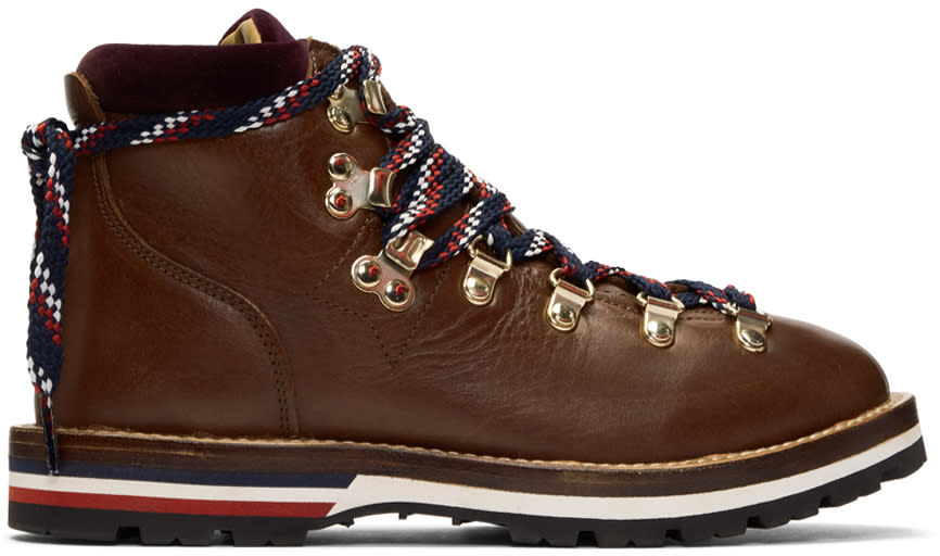 Moncler Brown Blanche Hiking Boots