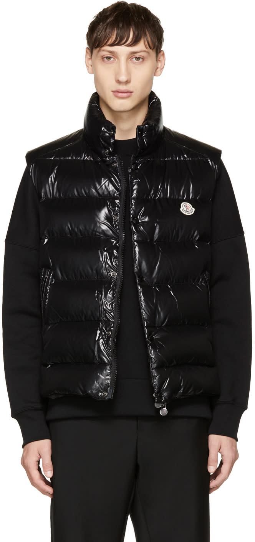 Moncler Black Down Tib Vest