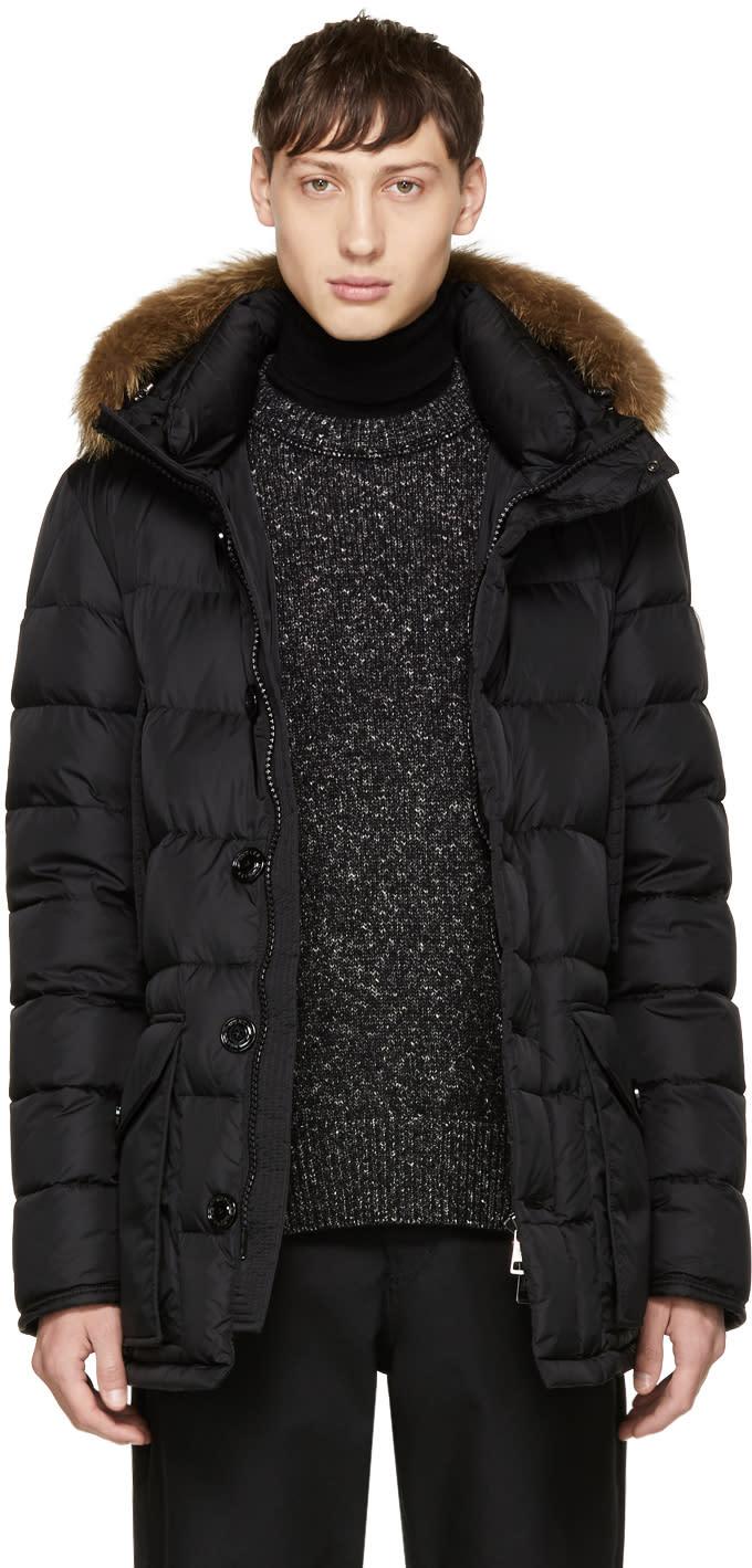Moncler Black Down Cluny Coat