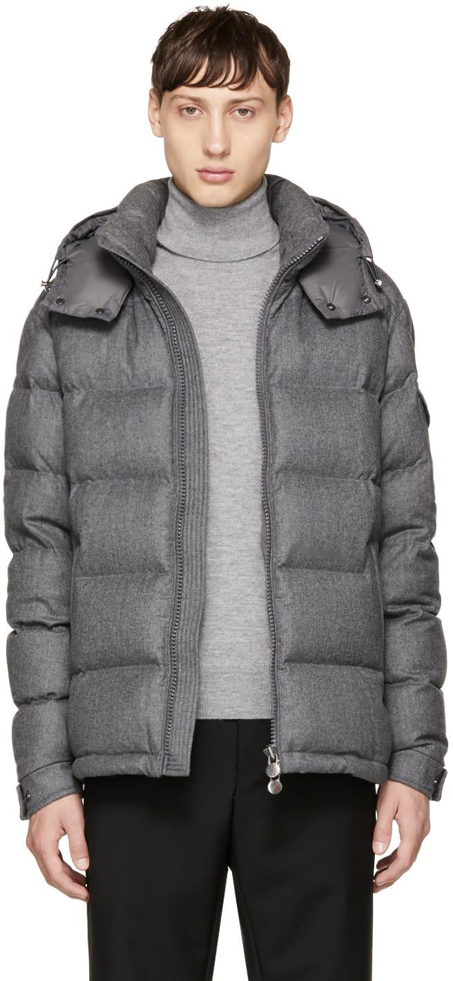 Moncler Grey Down Montgenevre Jacket