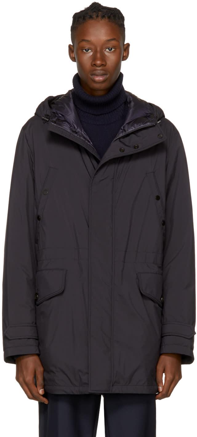 Moncler Navy Down Bresle Jacket