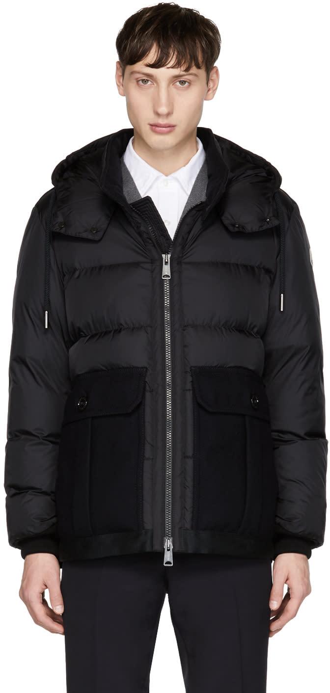 Moncler Black Down Vitoux Jacket