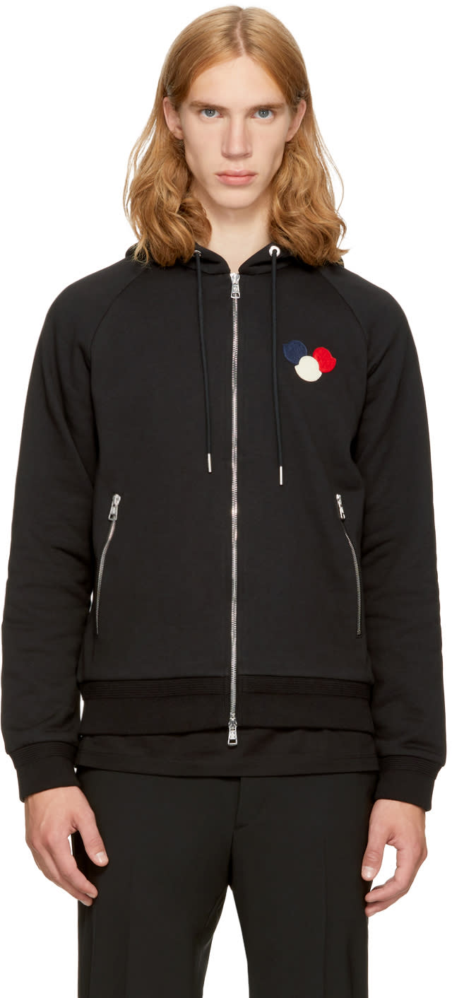 Moncler Black Logo Hoodie