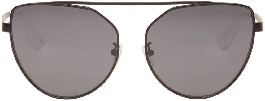 Mcq Alexander Mcqueen Black Cat Eye Sunglasses