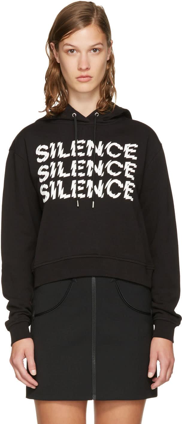 Mcq Alexander Mcqueen Black Cropped silence Hoodie