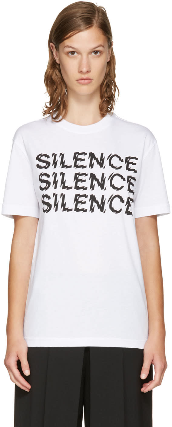 Mcq Alexander Mcqueen White silence T-shirt