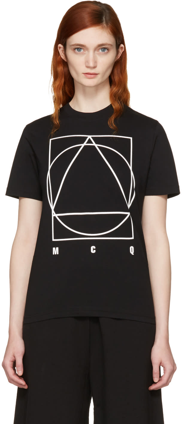 Mcq Alexander Mcqueen Black Logo Glyph Icon T-shirt