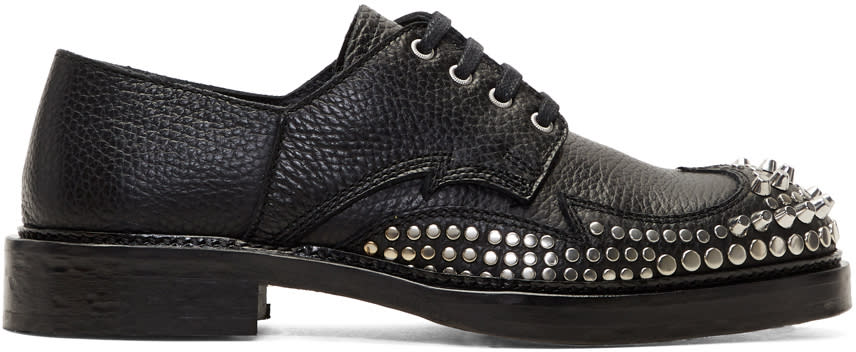 Mcq Alexander Mcqueen Chaussures Oxford Cloutées Noires Columbia