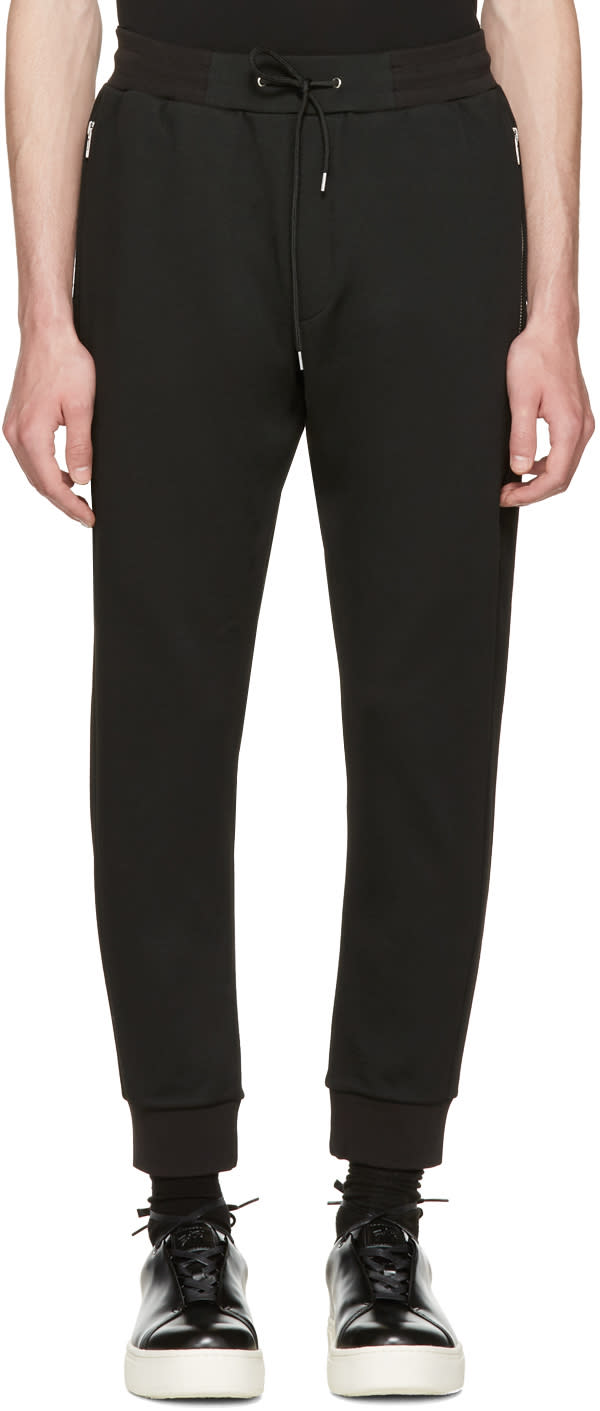 Mcq Alexander Mcqueen Black Mix Zip Lounge Pants