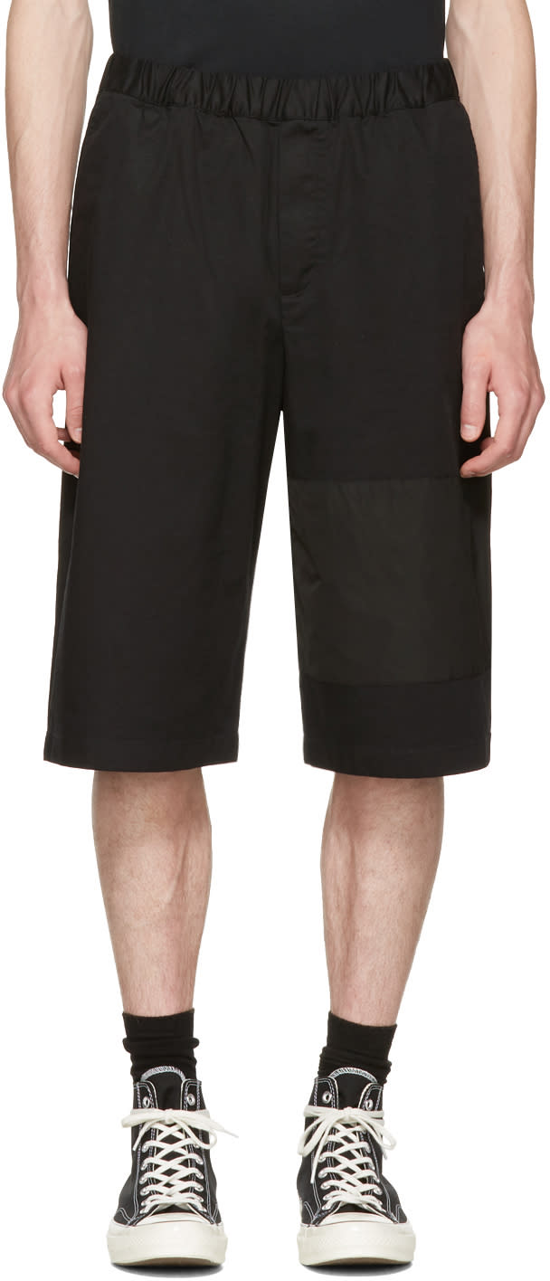 Mcq Alexander Mcqueen Black Panelled Chino Shorts