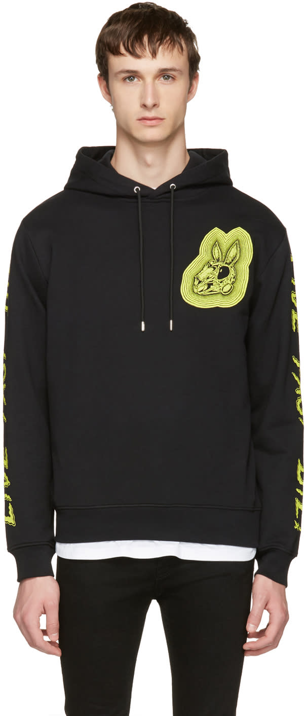Mcq Alexander Mcqueen Black bunny Be Here Now Clean Hoodie