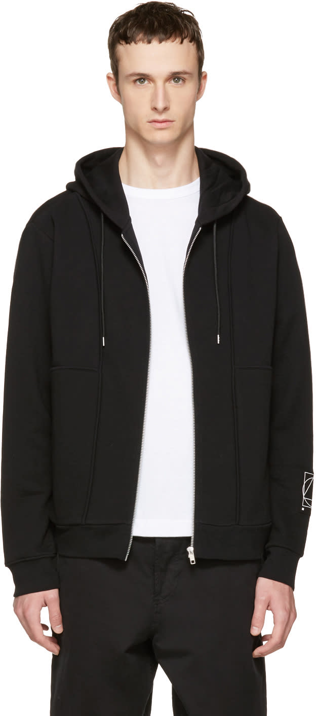 Mcq Alexander Mcqueen Black Inside Out Zip Hoodie