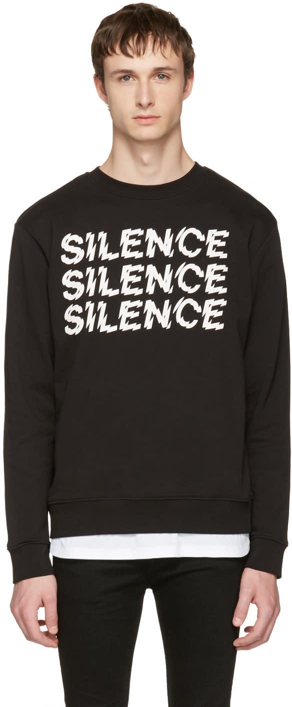 Mcq Alexander Mcqueen Black silence Clean Sweatshirt