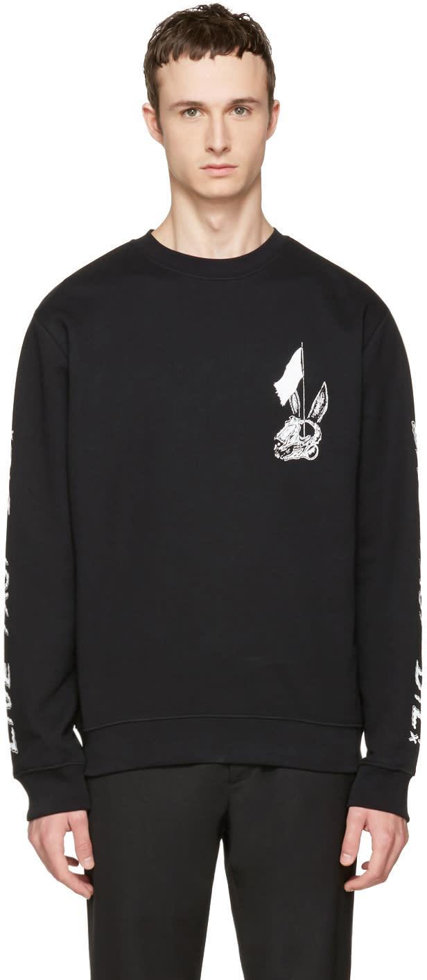 Mcq Alexander Mcqueen Black live Fast Die Clean Sweatshirt