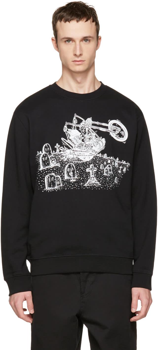 Mcq Alexander Mcqueen Black Motorcycle Clean Sweatshirt