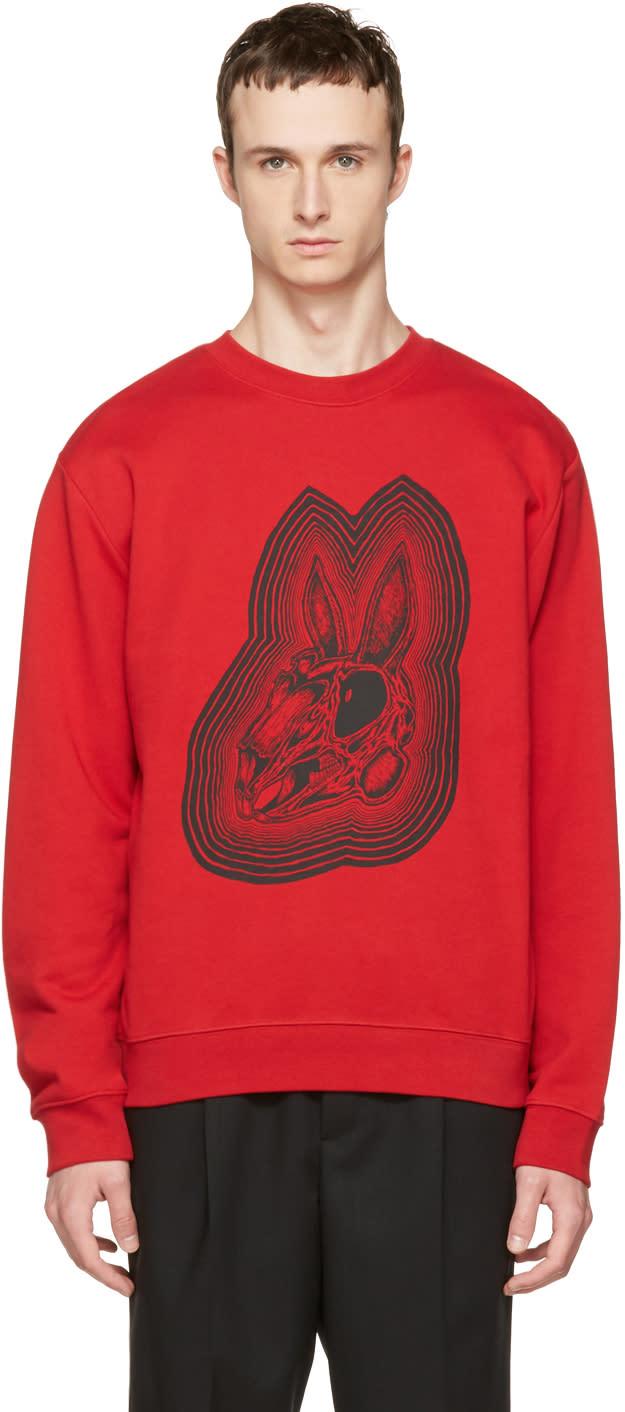 Mcq Alexander Mcqueen Red Bunny Clean Sweatshirt