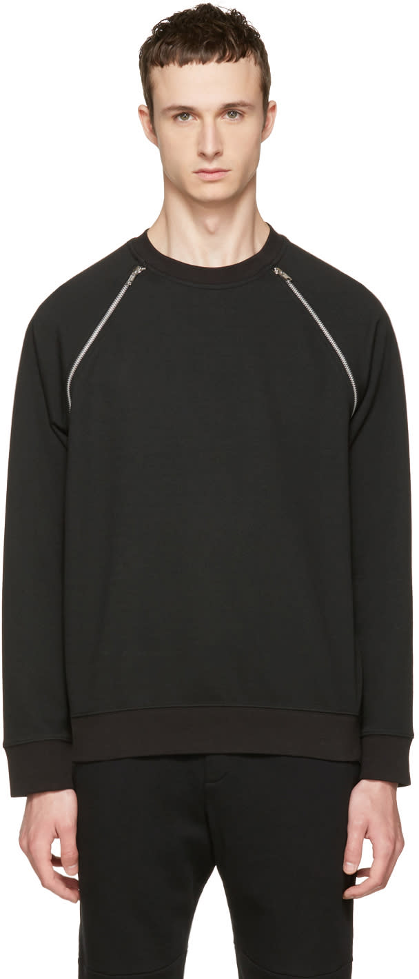 Mcq Alexander Mcqueen Black Mix Zip Sweatshirt