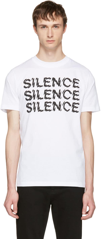 Mcq Alexander Mcqueen ホワイト Silence T シャツ