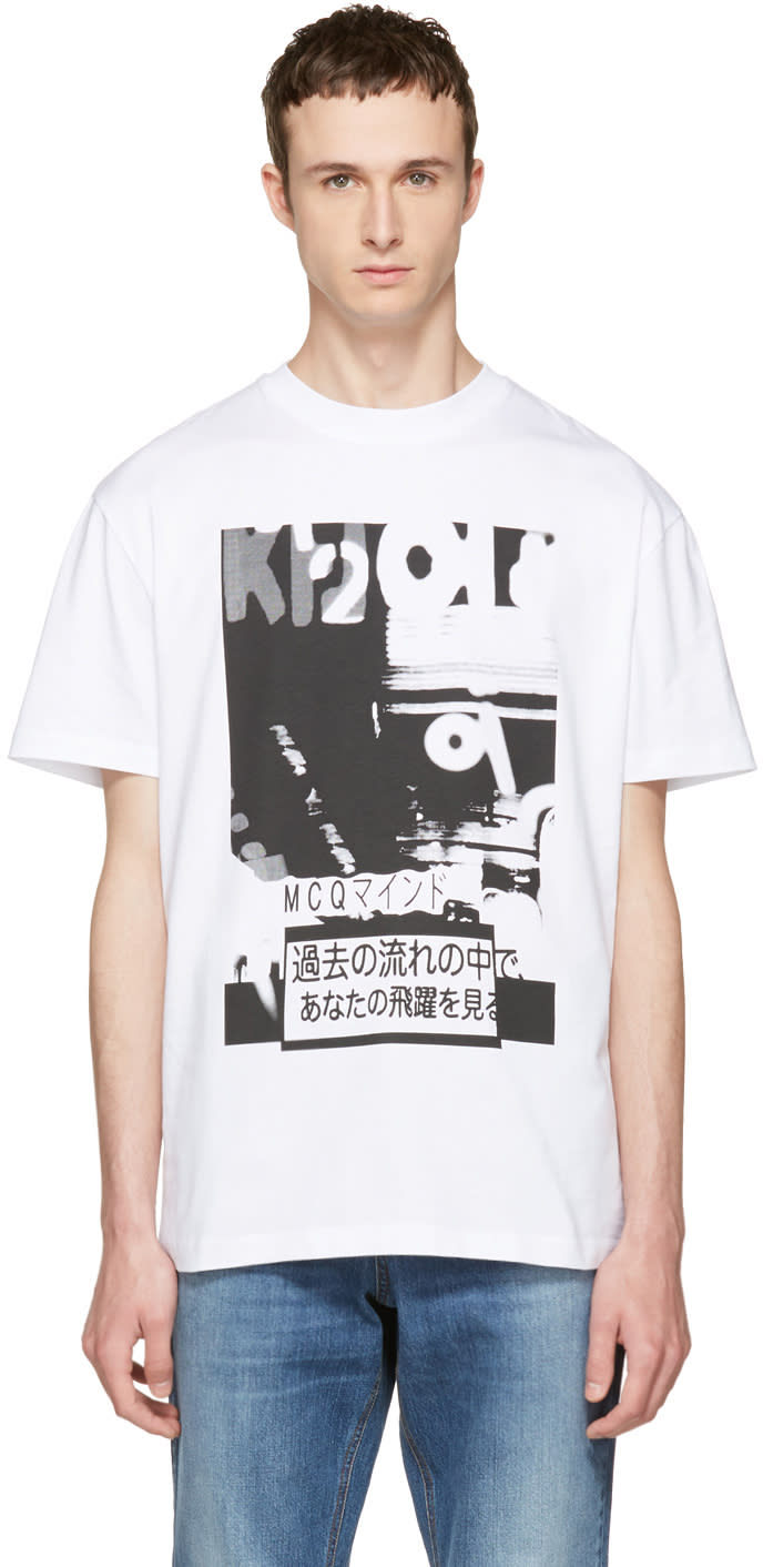 Mcq Alexander Mcqueen White Katsumi T-shirt