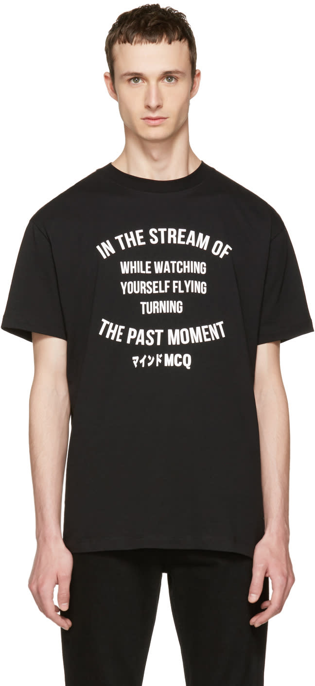 Mcq Alexander Mcqueen Black the Past Moment T-shirt