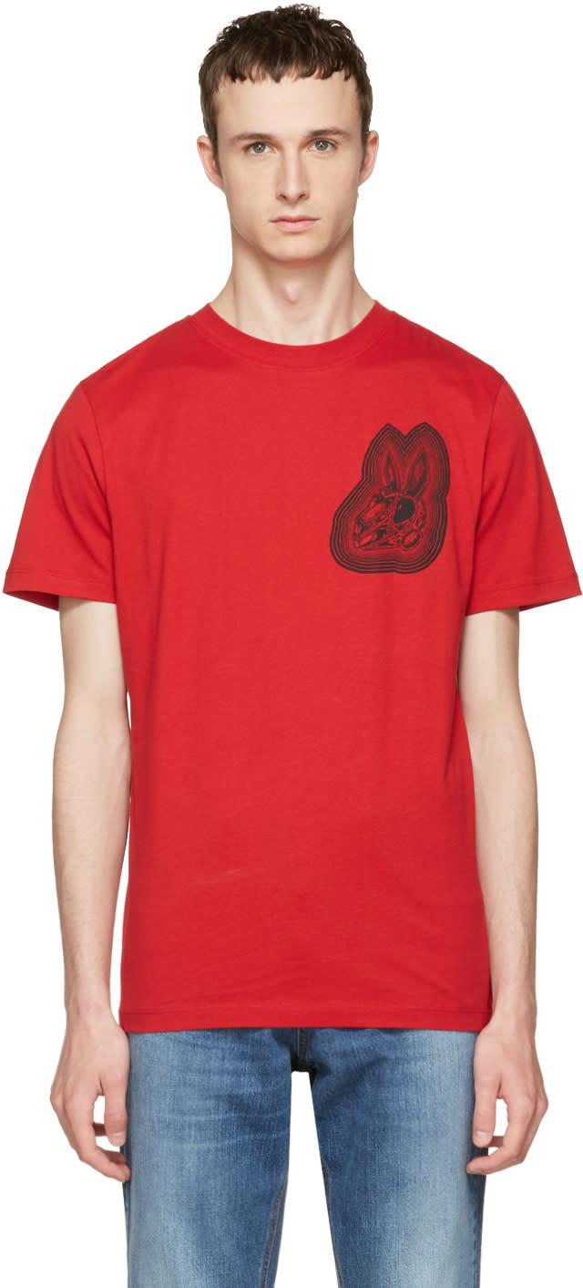 Mcq Alexander Mcqueen Red Bunny T-shirt