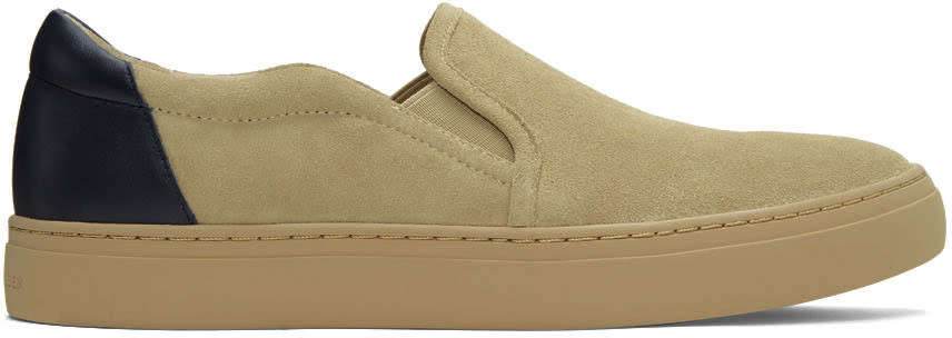 Tiger Of Sweden Beige Suede Andover B Slip-on Sneakers