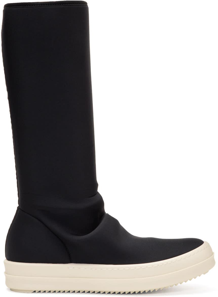 Rick Owens Drkshdw Black Vegan Sock Boots