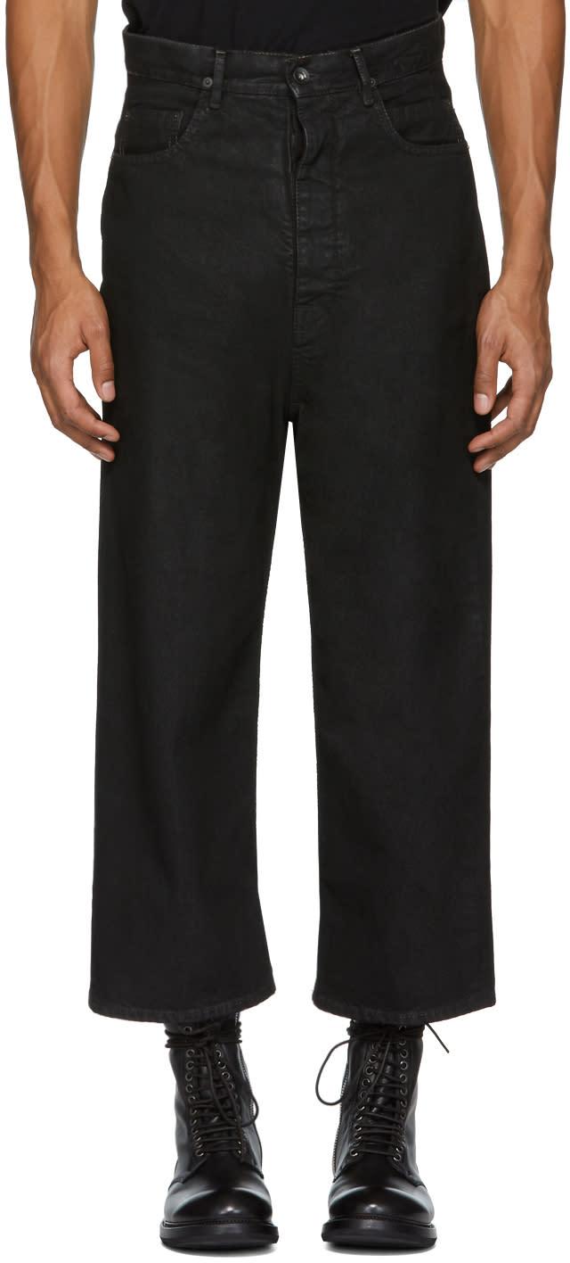 Image of Rick Owens Drkshdw Black New Cropped Dustulator Jeans
