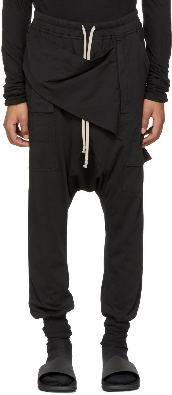 Image of Rick Owens Drkshdw Black Prisoner Memphis Lounge Pants