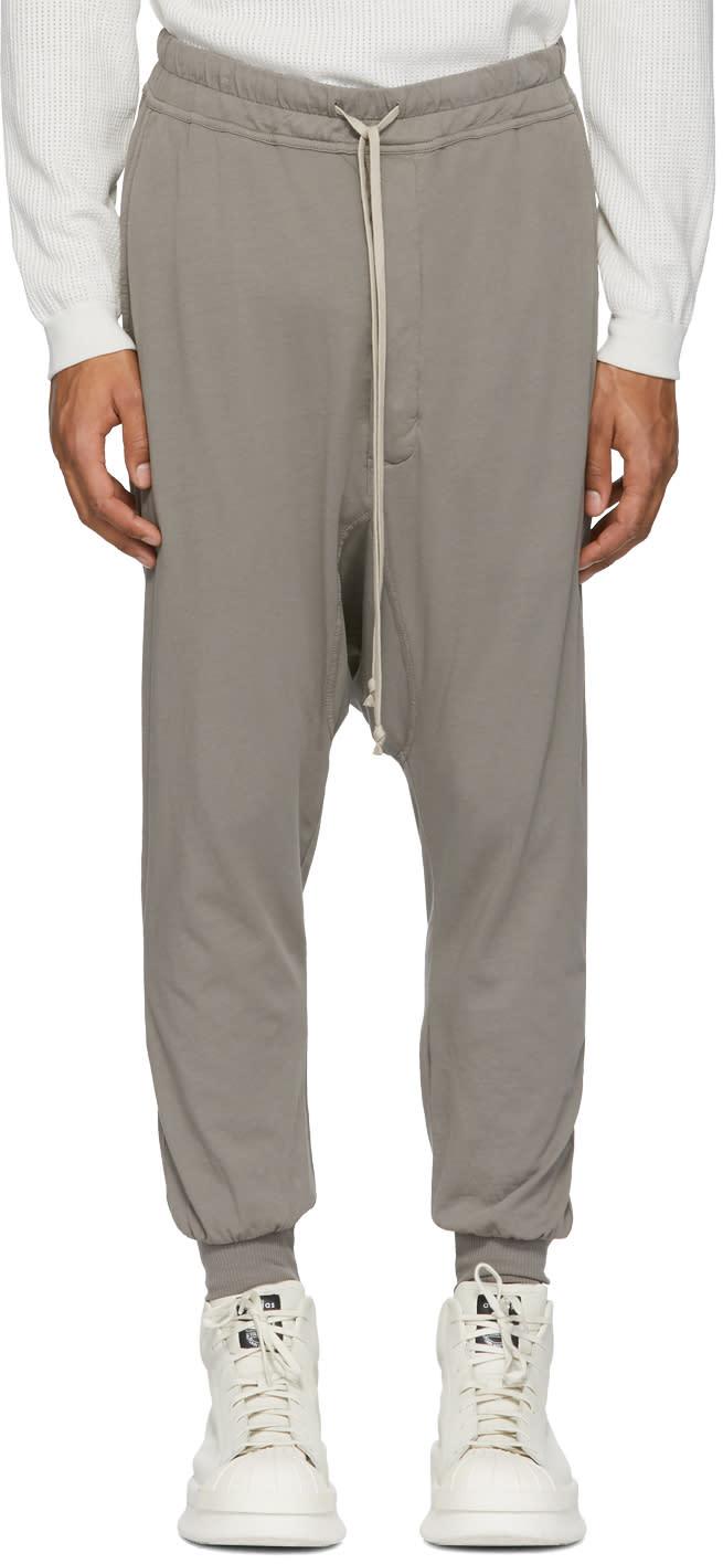 Image of Rick Owens Drkshdw Grey Prisoner Drawstring Lounge Pants