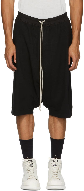 Image of Rick Owens Drkshdw Black Pod Shorts