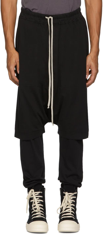 Image of Rick Owens Drkshdw Black Pods Shorts