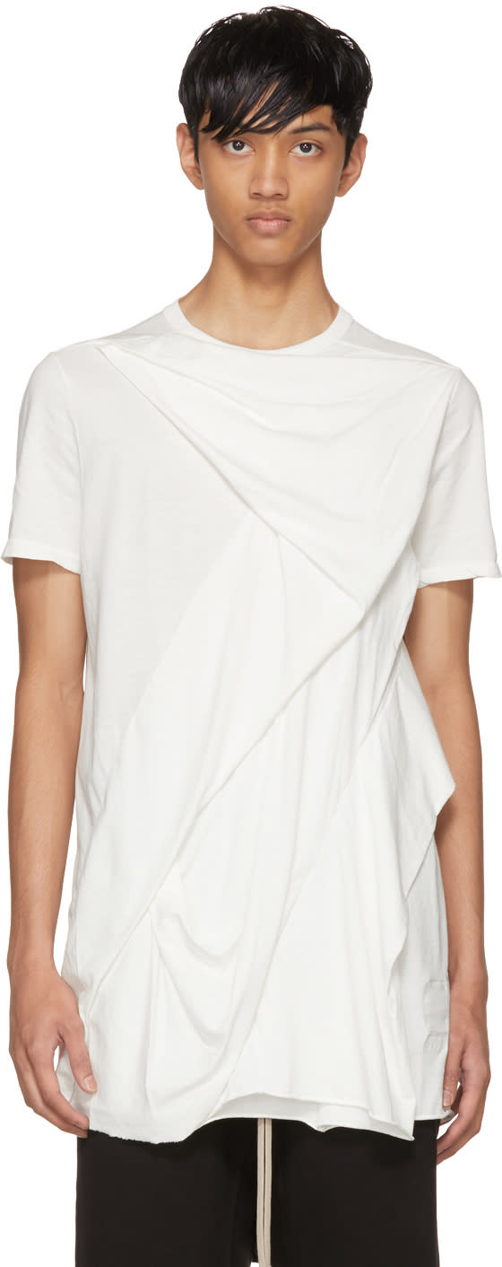 Image of Rick Owens Drkshdw White Wreck T-shirt