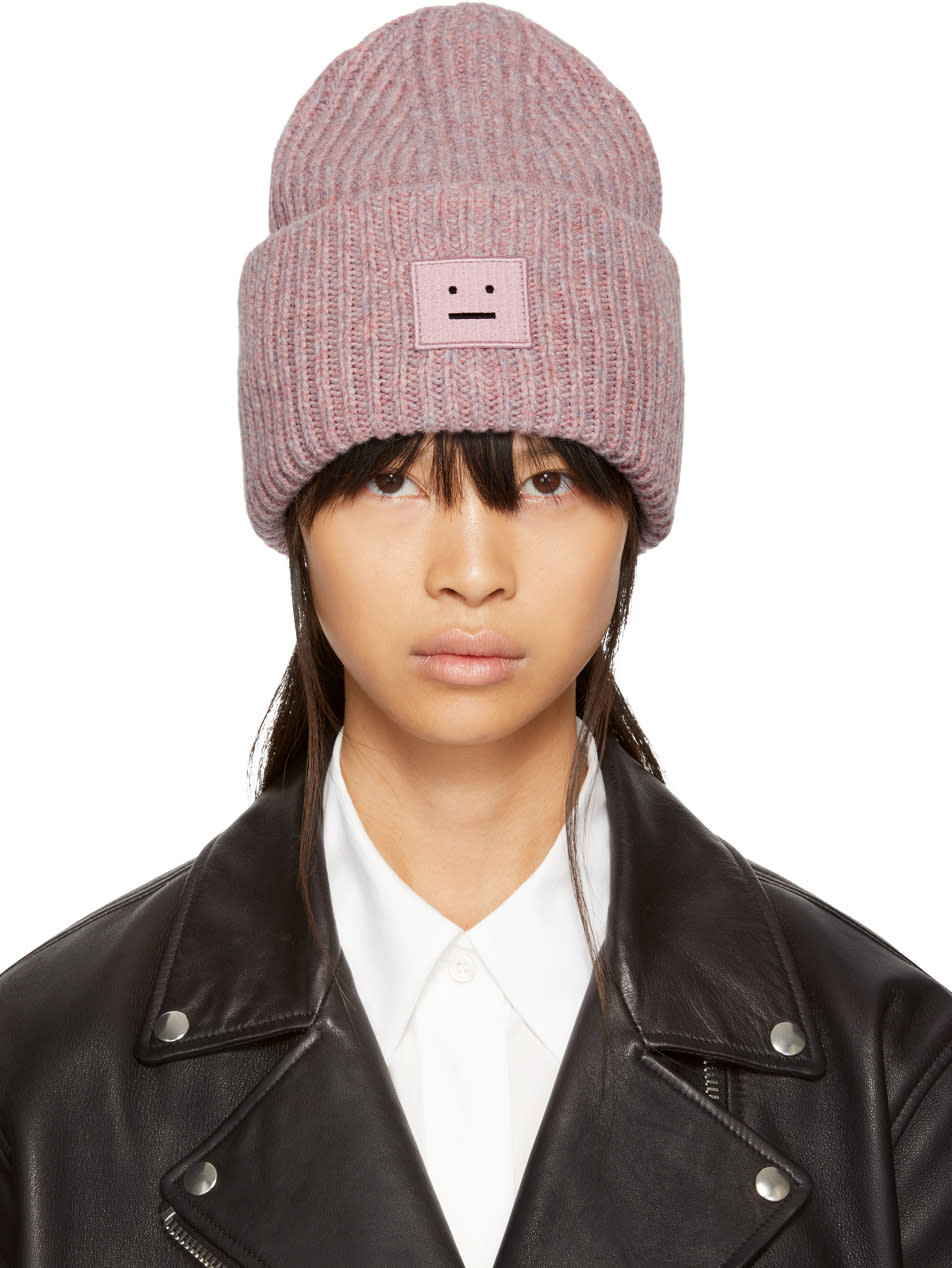 1f6f602e376 Acne Studios Pink Pansy Face Beanie