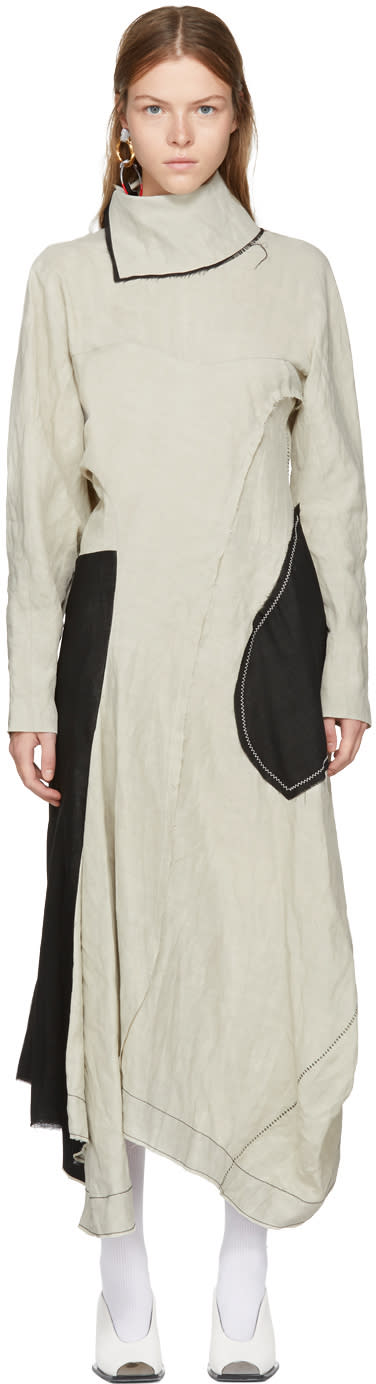 Image of Acne Studios Beige Dragica Slub Dress