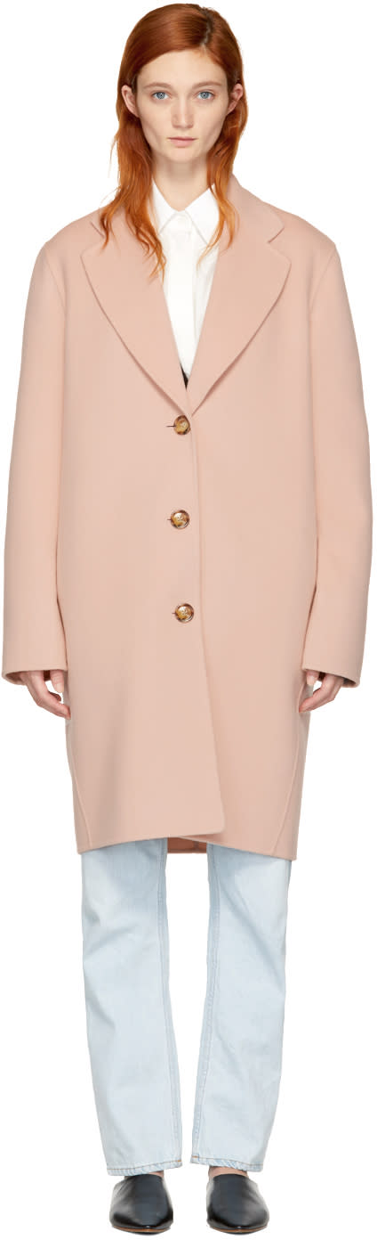 Acne Studios Pink Landi Doubl� Coat