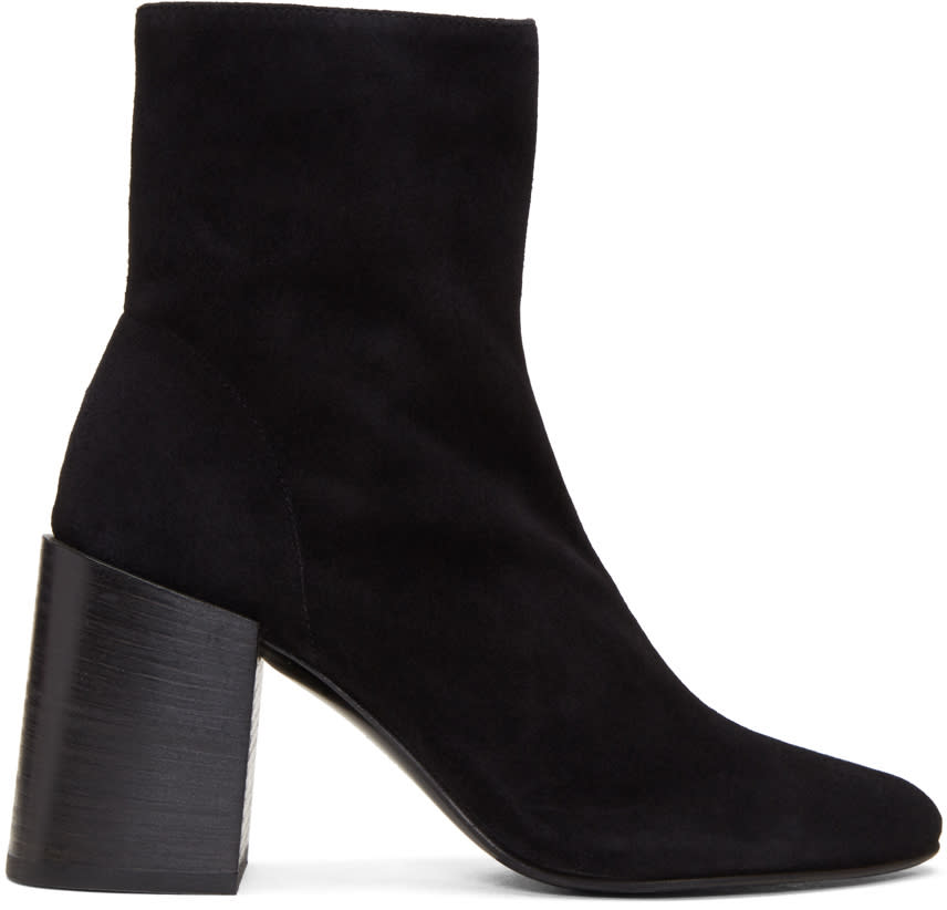 Acne Studios Black Suede Saul Reverse Boots