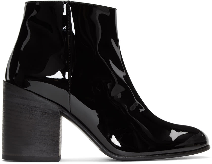 Acne Studios Black Patent Beth Boots