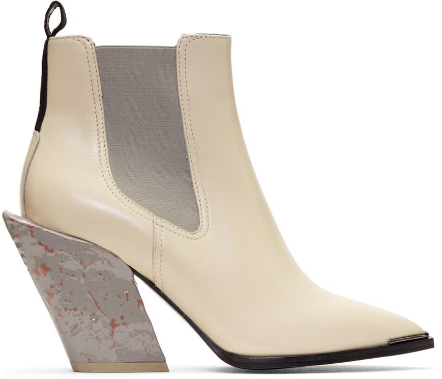 Acne Studios Off-white Jemina Chelsea Boots