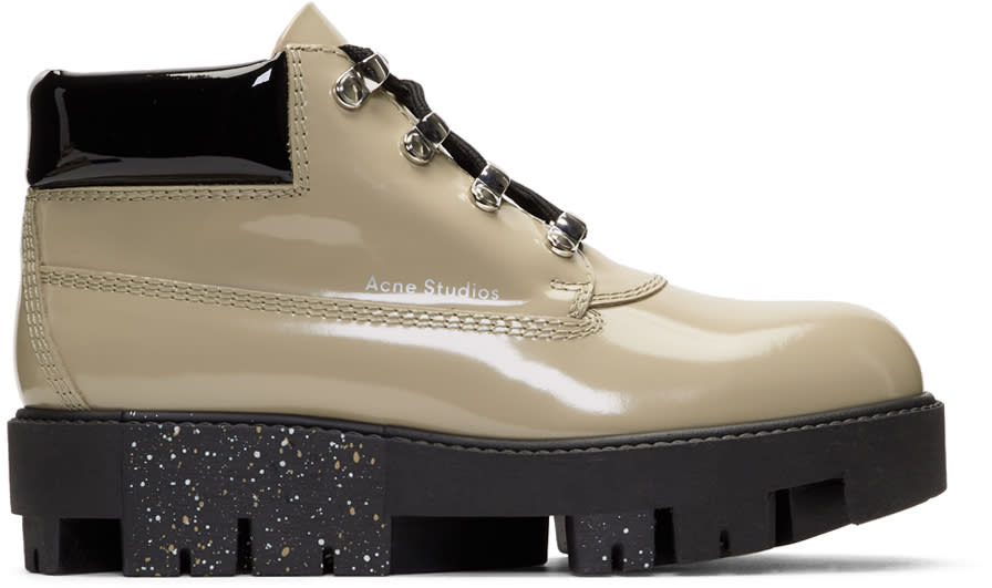 Acne Studios Grey Tinne Brush Off Boots