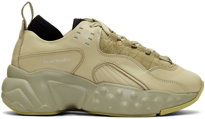 Image of Acne Studios Beige Manhattan Sneakers
