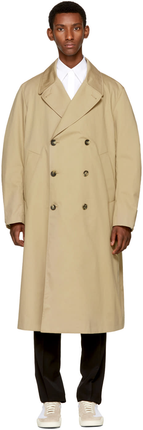 Image of Acne Studios Beige Mesa Trench Coat