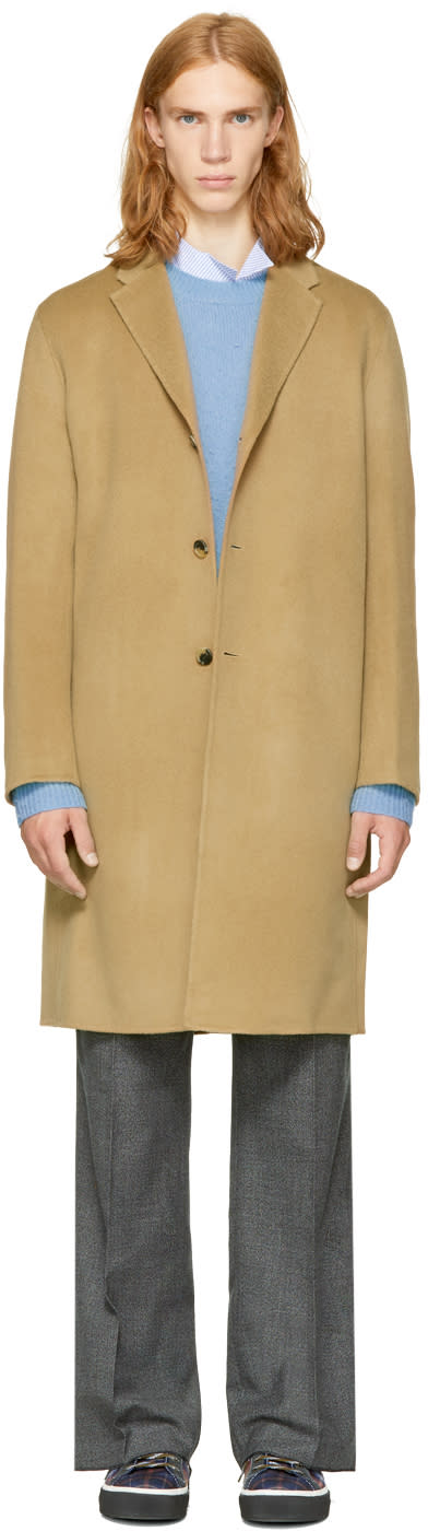 Image of Acne Studios Beige Chad Coat