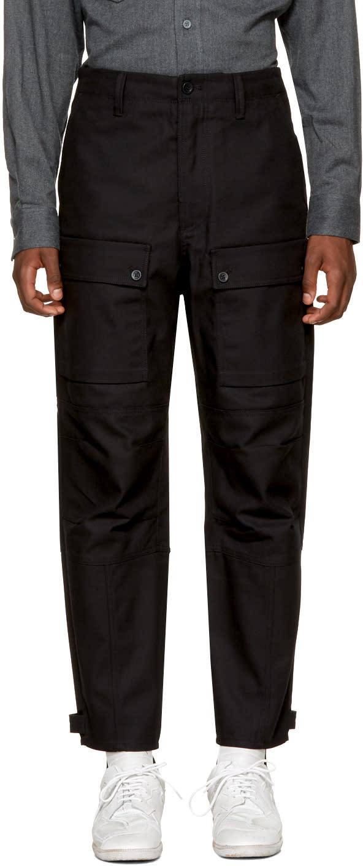 Image of Acne Studios Black Abbi Trousers