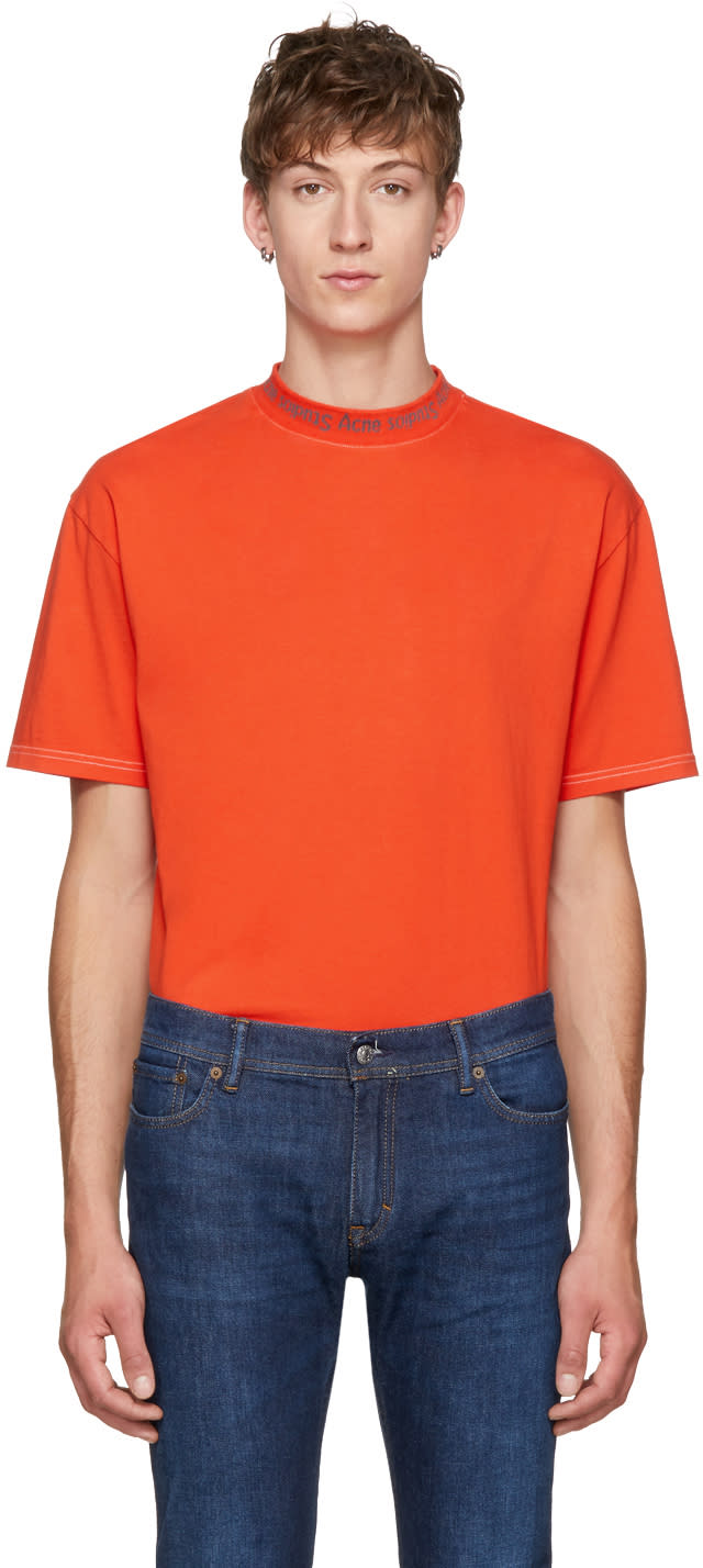 1fc776070b64 Acne Studios Orange Gojina Dyed T shirt