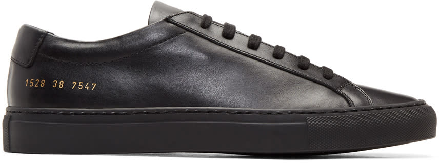 Image of Common Projects Black Original Achilles Low Sneakers