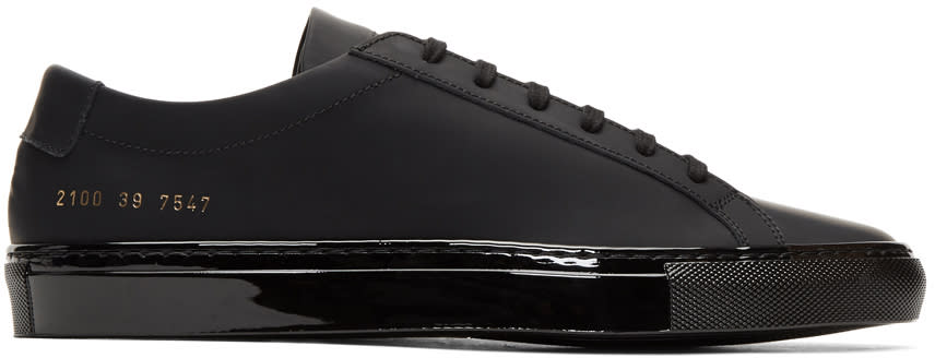 Image of Common Projects Black Achilles Luxe Sneakers