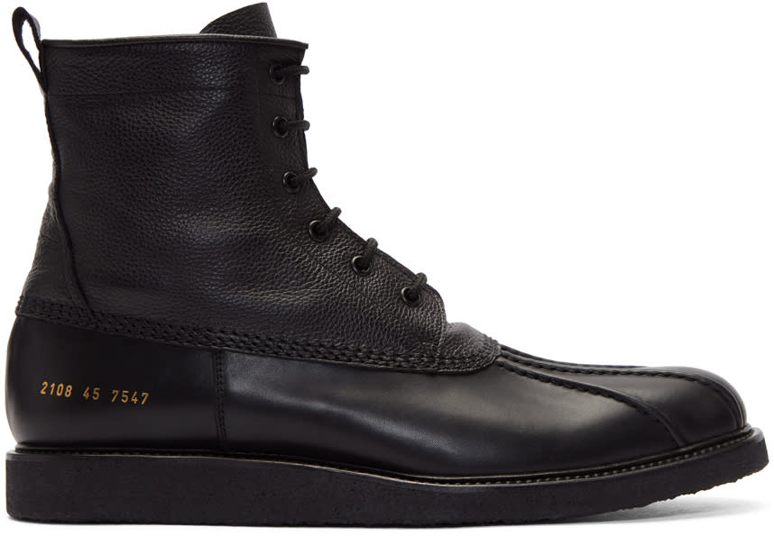 Image of Common Projects Black Duck Boots