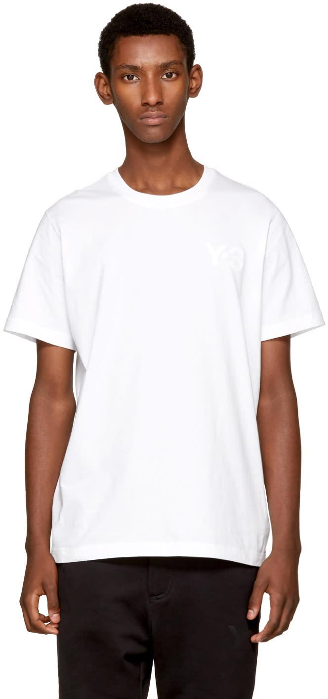 Y-3 ホワイト クラシック ロゴ T シャツ