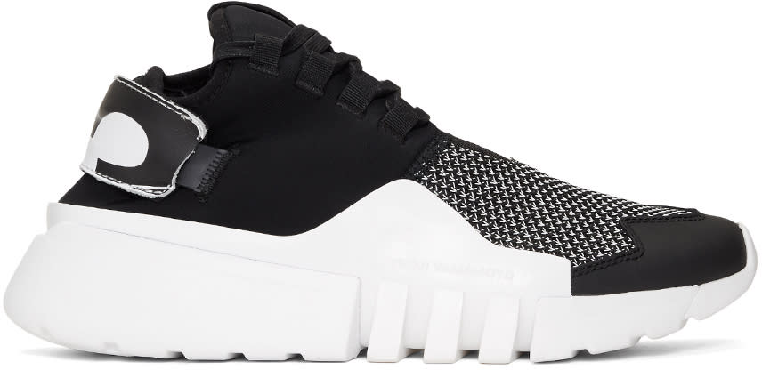 Image of Y-3 Black and White Ayero Sneakers
